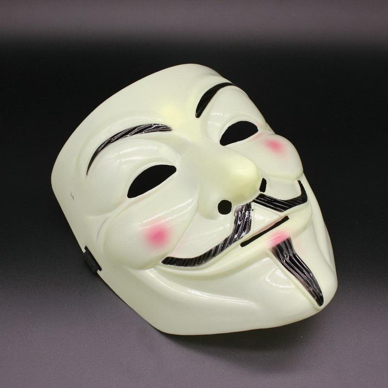 V per Maschera Vendetta Halloween Maschere horror Maschere da festa Maschere da festa Masquerade Cosplay Scary Masque Divertente Terrore Mascara Villain Joker Maska