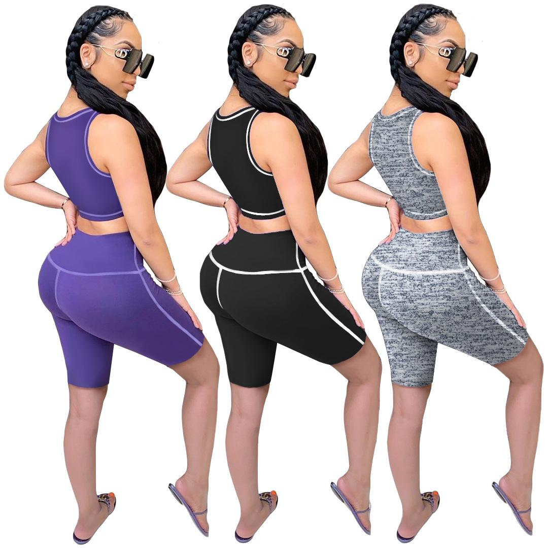Mulheres Outerwear Mulheres Mulheres Femininas Suits Beach Wear Sport Tops Senhora Casual Tops + Shorts Outfits Venda quente Sweatsuits