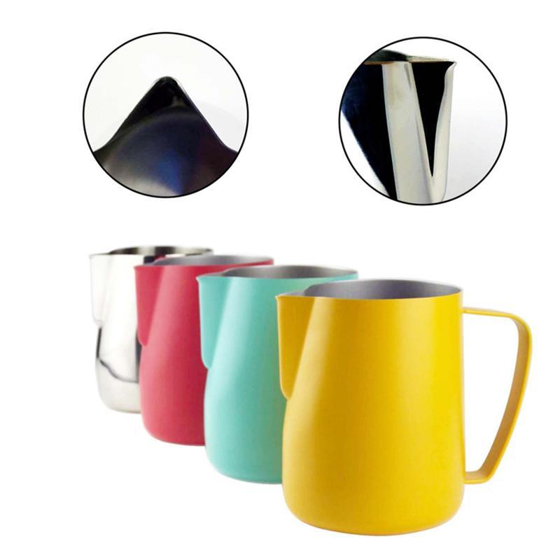 الفولاذ المقاوم للصدأ القهوة كوب كوب drinkware متعددة الوظائف أشار الأنف كبسولة كؤوس مقبض القدح فن الحليب رغوة أداة