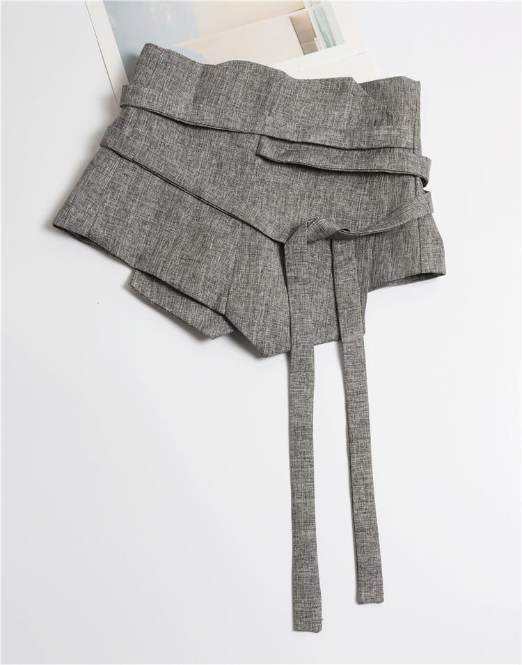 2021 primavera verão mulheres corset desenhador de moda vintage cinza Japaness estilo largo cintos cintura para camisas vestido J1209