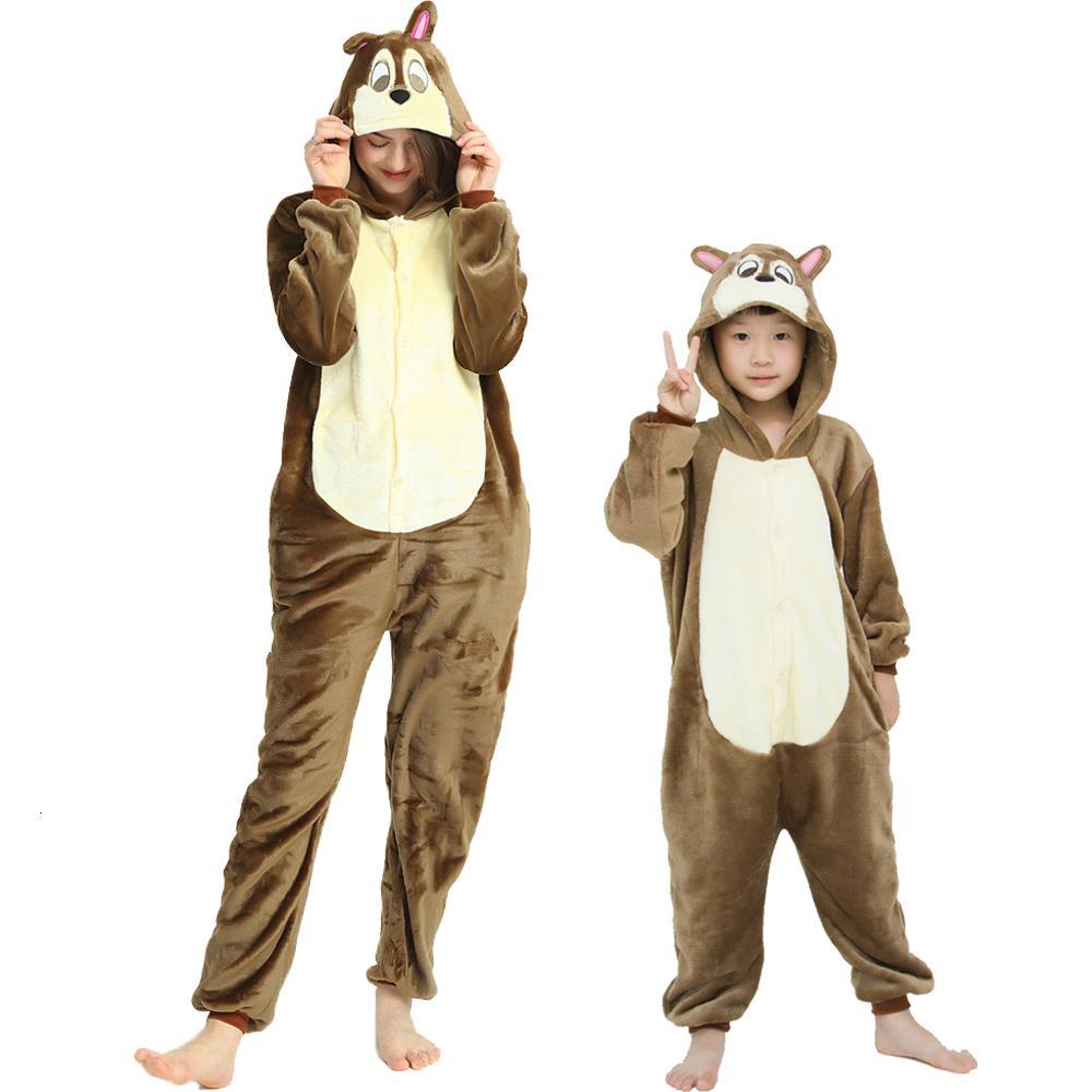 Ardillas de ardillas Franela Linda Puntada Unicornio Pijamas Pijamas Mujeres Invierno Unicornio Nightie Pijama Sleepwear Homewear