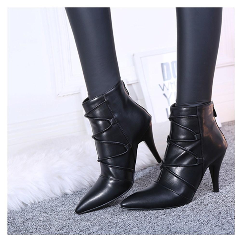 2020 Зима и Новый Frilly High Stiletto каблуки для моды для похудения сапоги размером 34-44 P8S5