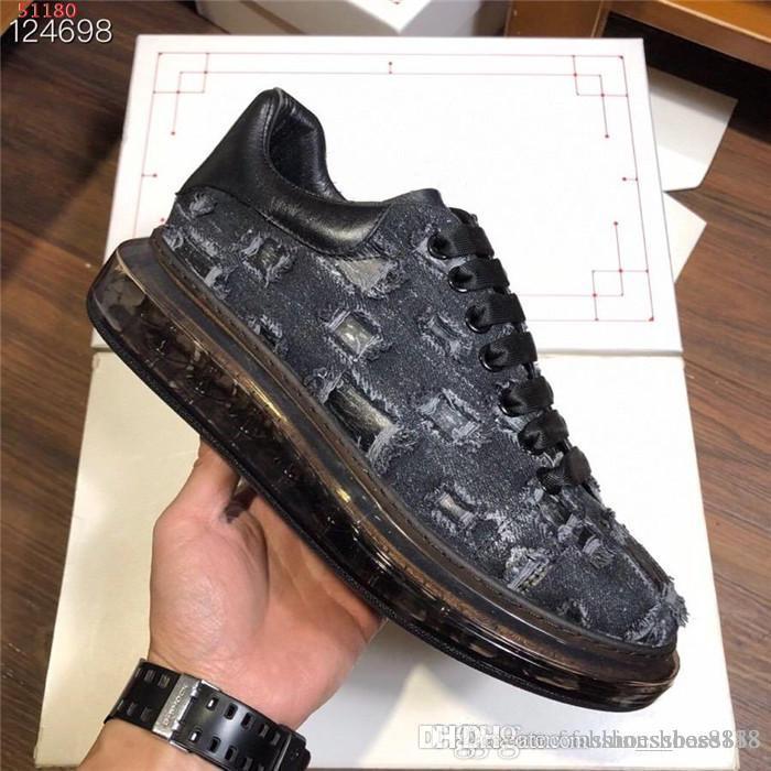 Мужские и женские классические прозрачные воздушные туфли на подошве Sportswear, низкосоп на шнуровке платформы, с коробкой размером 35-45