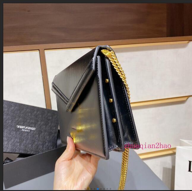 Designer di Lusurys Borse Borsa a tracolla trapuntata Legou Borsa a tracolla trapuntata Catena di moda Borsa a tracolla in vera pelle Borsa Borse Borse Black Tote Bag 55