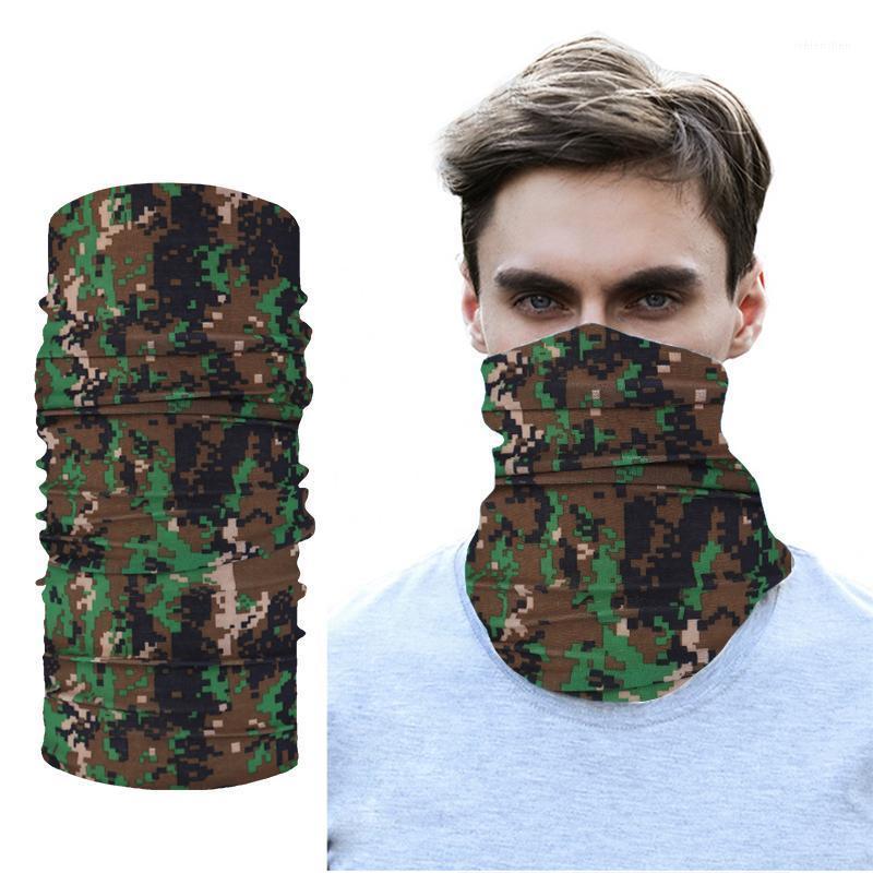 Camouflage unisexe Bandanas Coton Coffre-tête Femmes Foulards Bandeau Hommes Camping Gaisters Braga Cuello Randonnée Foulards1