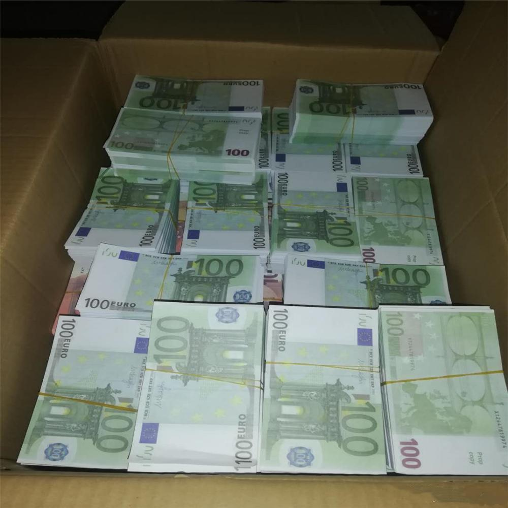 Top Calidad Fake Money Bar 100Beuro L Dinero Euro Billet Atmósfera Mayor Crafts Película Billet Faux 100 Play Prop Money Club QTDSU