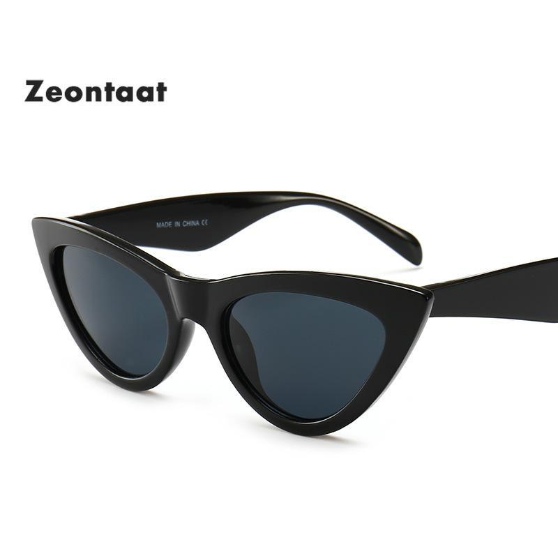 2020 New Vintage Cat Eye Eye Occhiali da sole Donne Designer Designer Feminino UV400 Protezione Occhiali da sole specchiati