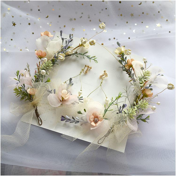 A cocar de câmara de cabeça Senmi terno de flor de casamento vestido de casamento super imortal da noiva w0104