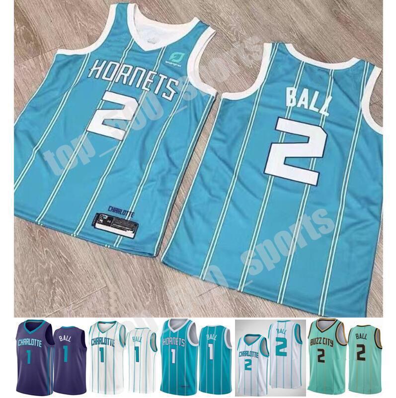 2020 2021 드래프트 픽업 2 Lamelo Ball Jersey Mint 그린 블루 화이트 새로운 도시 농구 에디션 남자 좋은 품질 공유 파트너