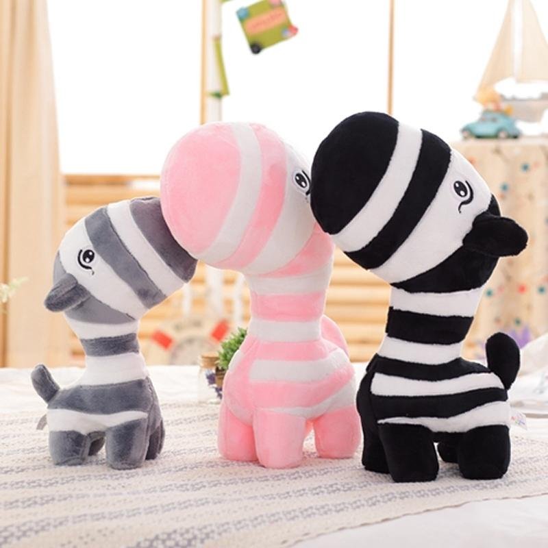 35 cm 45 cm / 55cm Neue super nette kleine Zebra Plüsch Schöne Cartoon Wald Zebras weiche gefüllte Tiere Puppe Baby Spielzeug Kinder Geburtstagsgeschenke