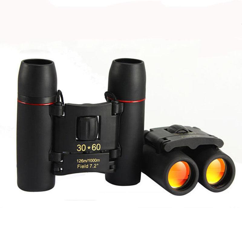 30x60 Складной бинокль телескоп Low Light ночного видения Открытый Отдых Путешествия Birding Sightseeing Охота Взрослые Дети