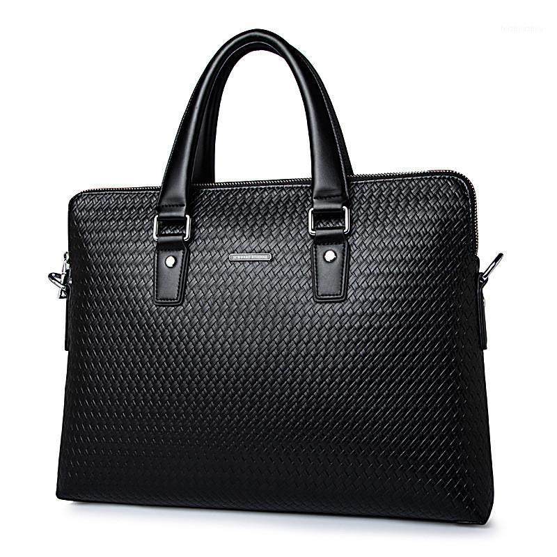 Casual Cow 2021 Leather Briefcase Men Vintage Laptop Men's Messenger Business Handbag Bag Split Retro For Male1 Mehjd