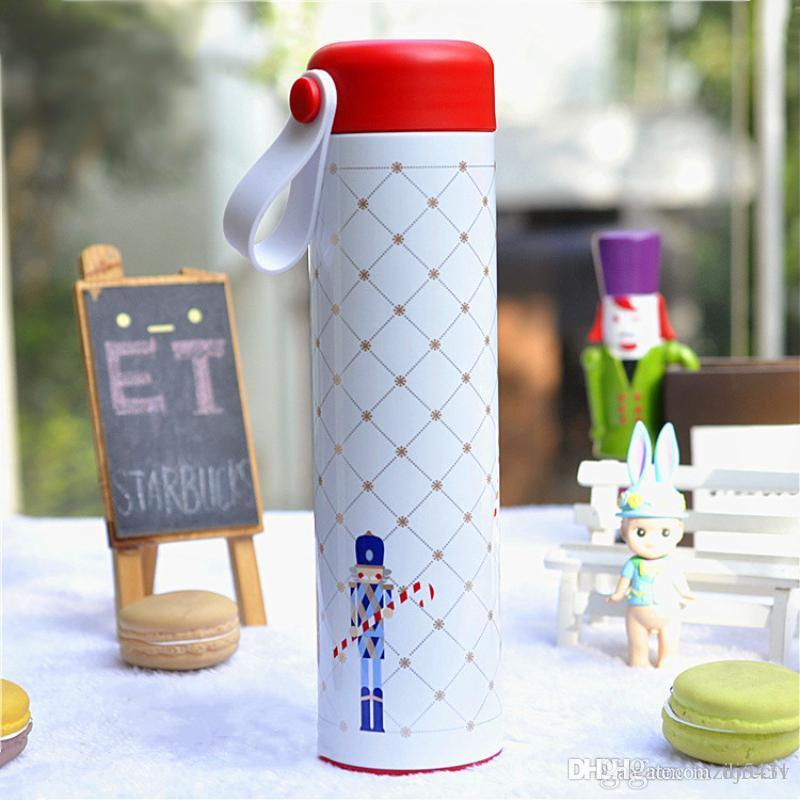 Starbucks 18. Jahrestag Weihnachtsgarde Edelstahl Vakuumaust Door Sport Kaffeetasse Tumbler 473ml