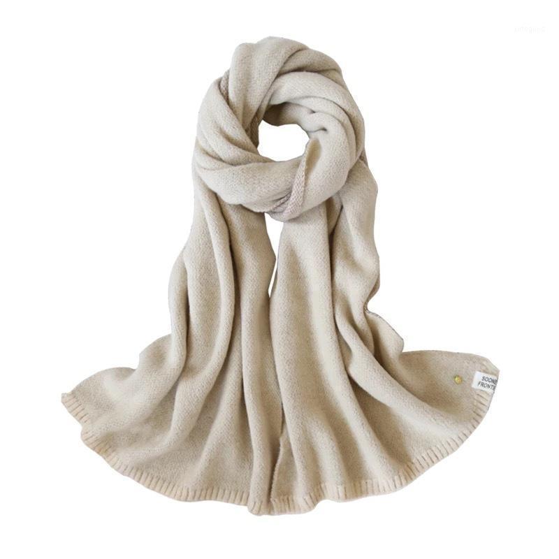 Шарфы 2021 осенью и зима маленький ананасовый застегнутый шарф женская корейская версия милая двухсторонняя вязаная шерсть теплый шарф1