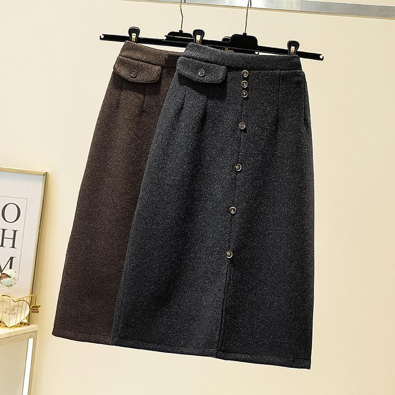 2020 Ropa de mujer nueva Slim 4xl Tallas Tallas Saia Midi Faldas elegantes para mujer Harajuku Flojo Jupe Femme1