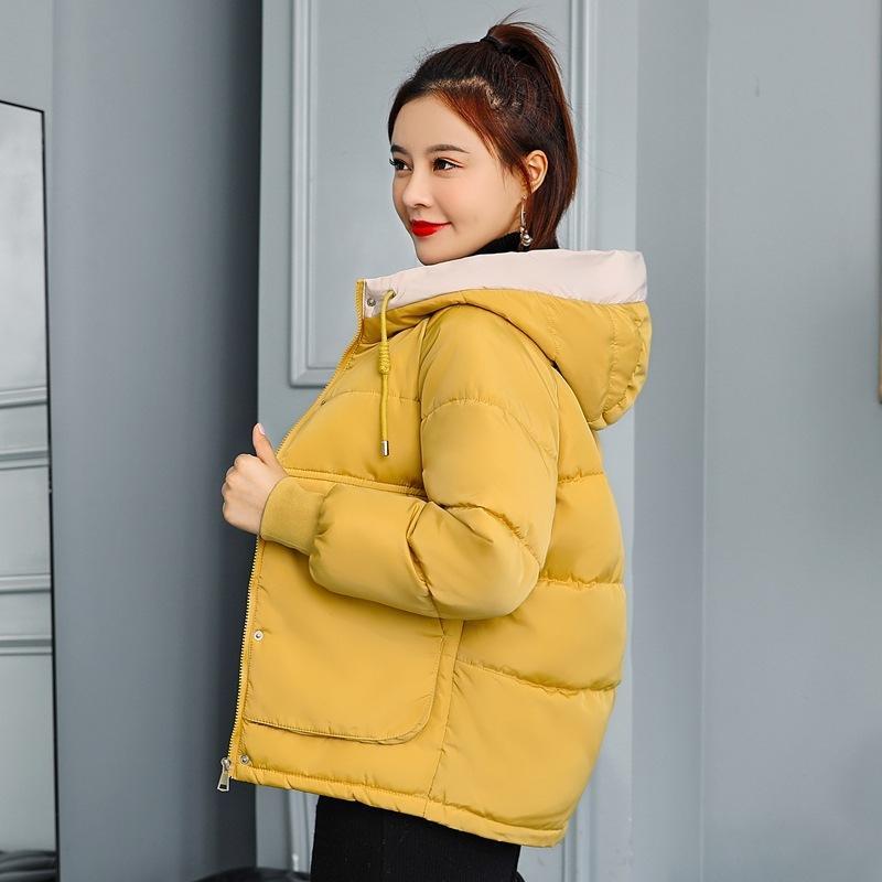 Mulheres Inverno Solto Casual Capuz Algodão Parkas Parkas Quilted Windproof Cardigan Outerwear Feminino