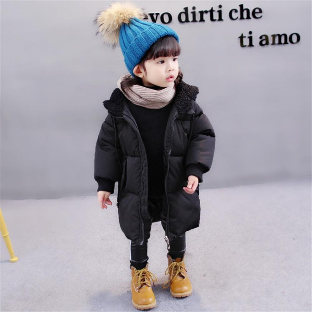 Casaco infantil inverno meninas meninos quente casacos com capuz windbreaker moda espessa casacos longos snowsuit crianças parkas y1208