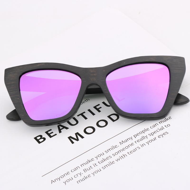 Vintage de gran tamaño nuevos gafas de sol de bambú marrón retro gafas de sol polarizadas de lujo para mujeres hombres de conducción al aire libre