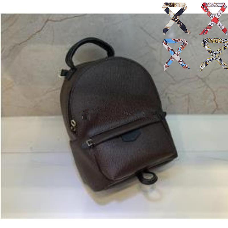 HIGHT Kinder drucken Handtasche Springs Leder Mini PU-Rucksack Qualität 4 Rucksack (freie Frauenfrauen Rucksäcke Palmbänder) RMLKW