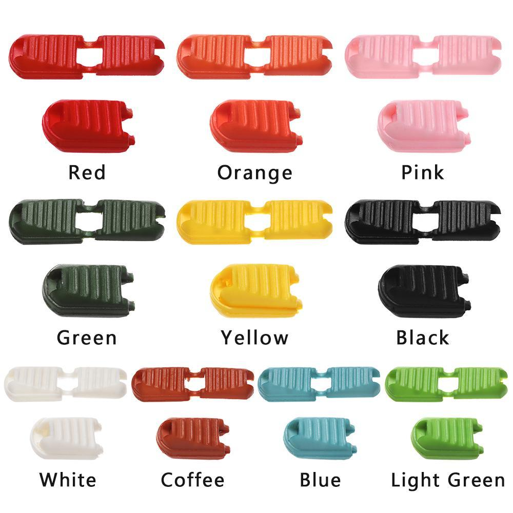 20 Pcs Mixed Colors Plastic Cord Ends Clip Zipper Puller Paracord Cord Tether Tip Lock For Backpack Bag Zipper Puller Diy H bbyFMT