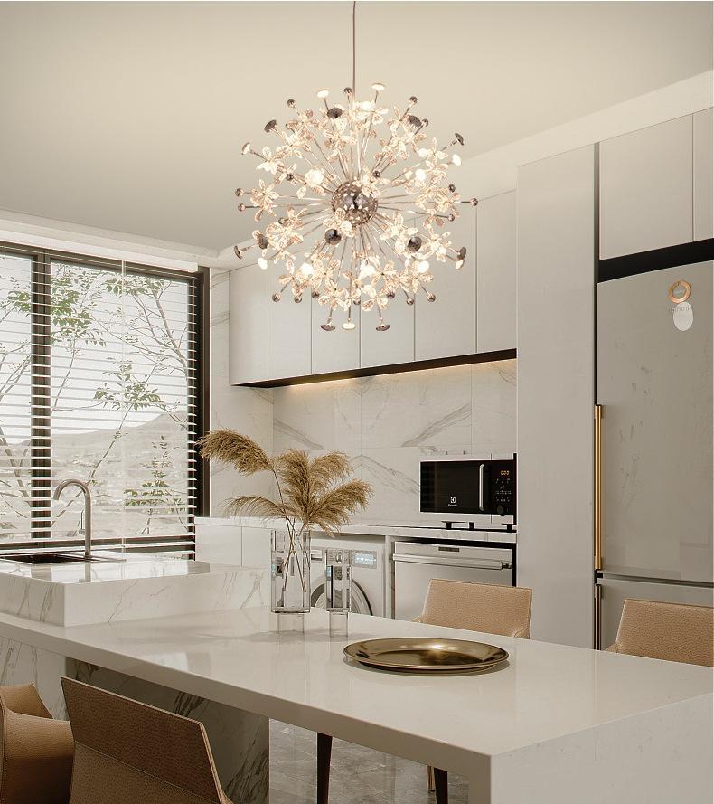 Kreatives Wohnzimmer Kronleuchter Blumenförmige Kugelkombination Modellierung Beleuchtung Nordic Modern Hallway Restaurant Pendelleuchte