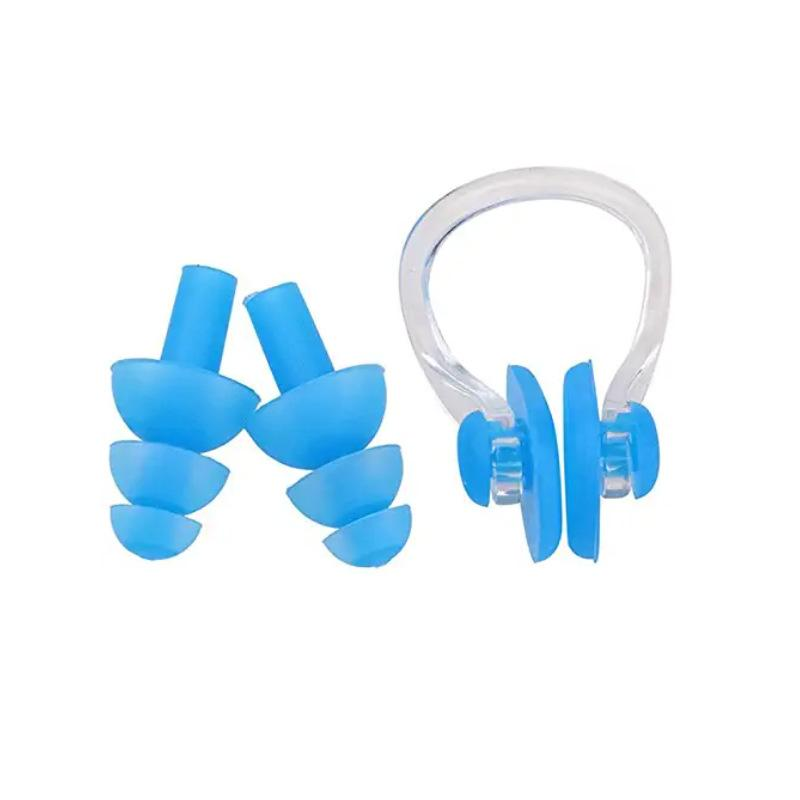 3pcs Unisex Nose Clip Earplugs Waterproof Swimming Nose Clip Soft Silicone Ear Plugs Set Surf Diving Swimming Pool Accessories