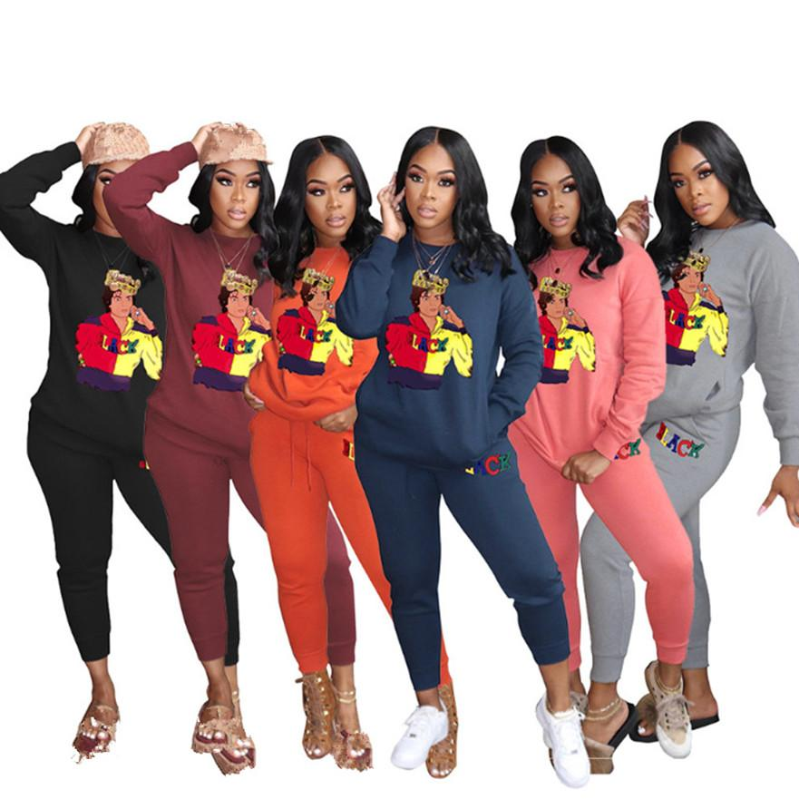 3XL Women Two Piece Sets Plus Size Jogger Suit Fall Winter Tracksuits Pullover Pants Outfits Long Sleeve Sportswear Casual Sweat Suits 4259