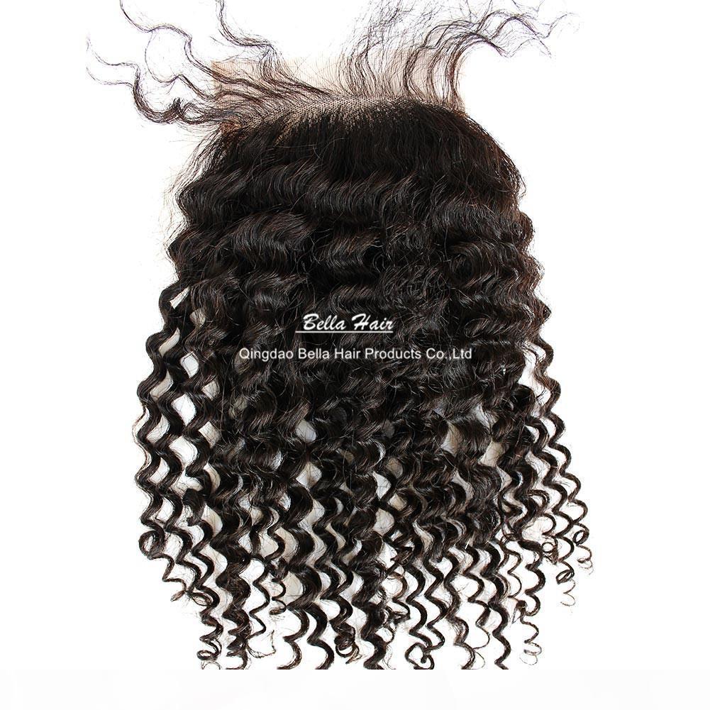 곱슬 레이스 폐쇄 말라 이니아 페루 인도 브레 데 넨 쿠플 루렐 1 조각 Cheveux Extension Livraison Gratuit Teindre 가능