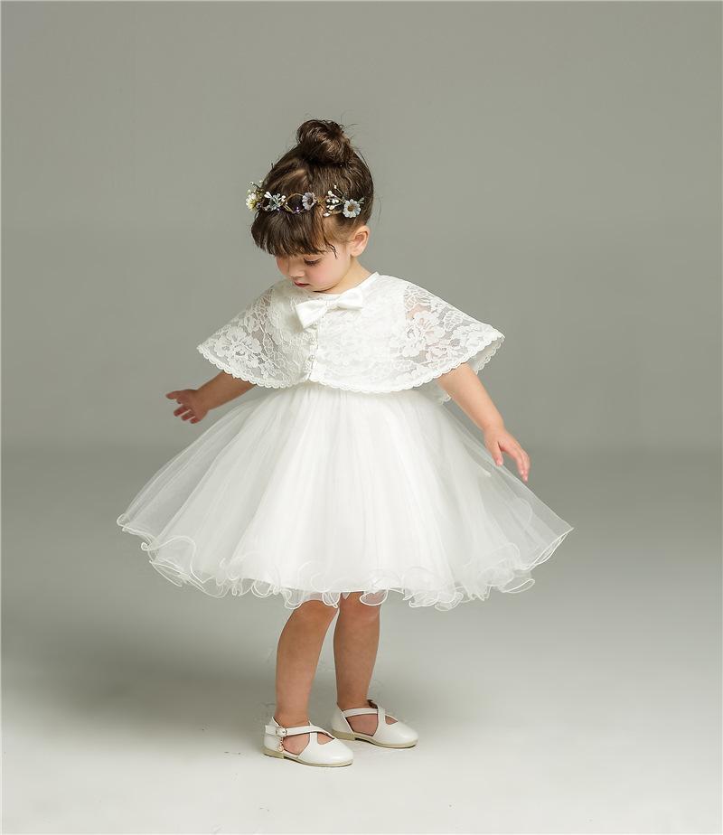 Robe de Noël blanche nouveau-né pour baptêmes bébé fille dentelle dentelle robe robe robe bambin 1ère anniversaire fête bébé costumes F1203