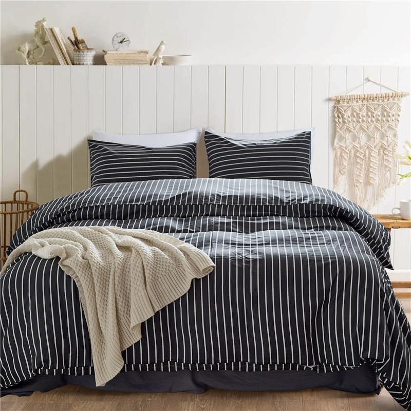 Чистый хлопок простая чехол для одеяла рюша набор King / Queen / Twin Size 3 шт. / Набор 3D Печать Геометрическое постельное белье Лист Усилитель 200 * 200