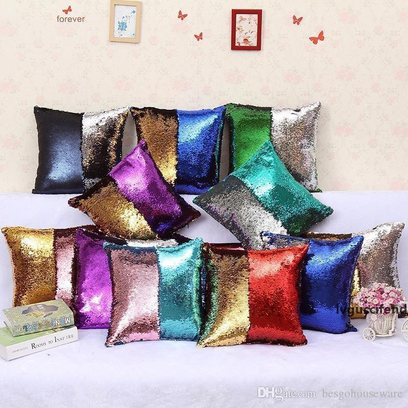 DIY Serre Serreau Coussin Coussin coloré House Decor 40x40CM Couleur Couleur Changement d'oreiller réversible Etues magique Taie d'oreiller BH0418