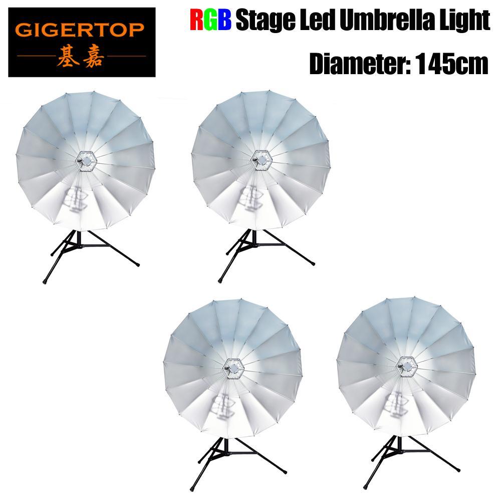 Prezzo di sconto 4 Unità Big Size Stage LED Ombrello Light Portable Clear Girl Parasol Sun Rain Protezione UV Ombrello 110V 220V