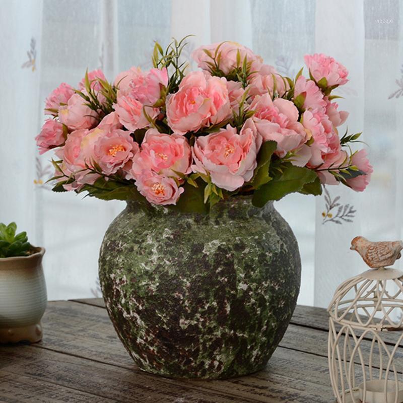 Горячая европейская мини-пион пион симуляция цветок европейский шелковый цветок свадебный симулятор украшения завода поддельный 20191