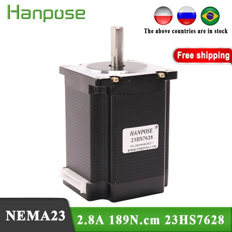 Free shipping 1PCS Nema23 Stepper Motor 23HS7628 2.8A 189N.cm 4-lead 57 motor For 3D Printer Monitor Equipment