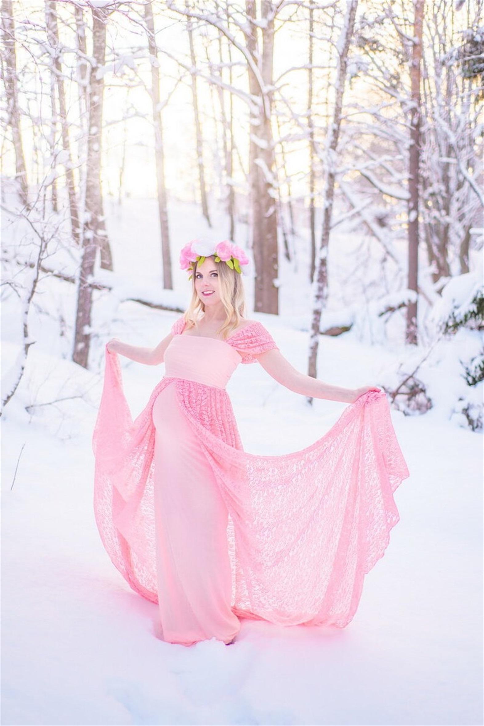 Розовые кружевные материнские вечерние платья русалка детские душевые платья выпускного вечера Photoothoot Hatrombe ночной беру беременности вечеринка платье плюс размер