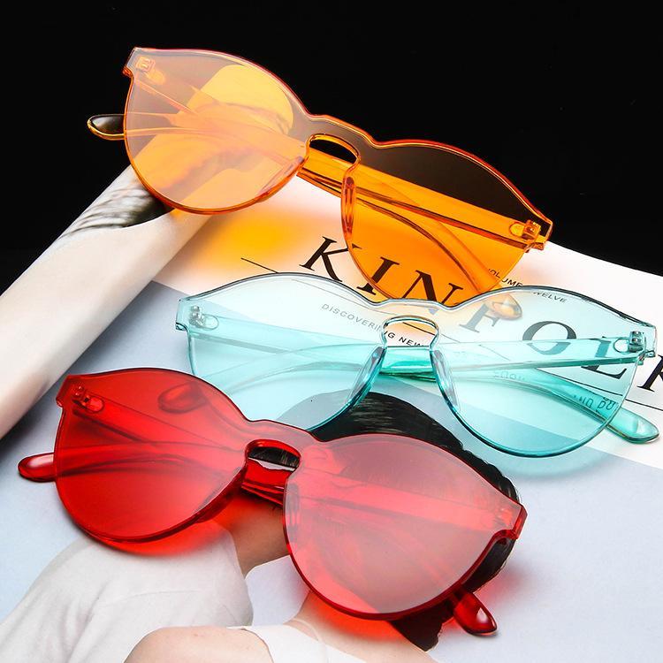 Mode einteiliger Trend personalisierte transparente Gelee Sonnenbrillen