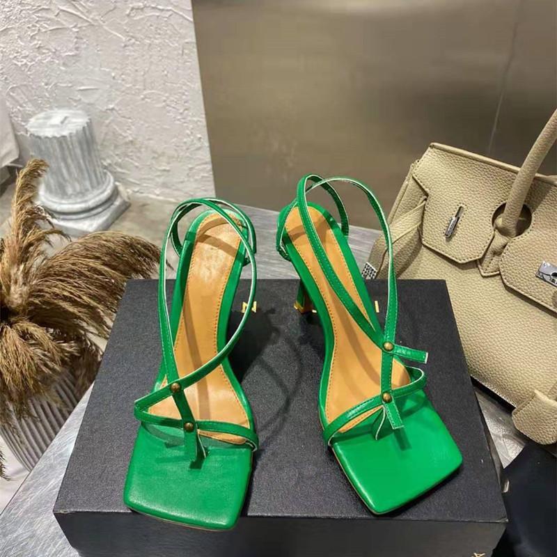 مصمم أحذية النساء عالية الكعب الصنادل strappy مثير ساحة تو السيدات حزب أحذية المدرج الوجه يتخبط sandalias موهير 2021