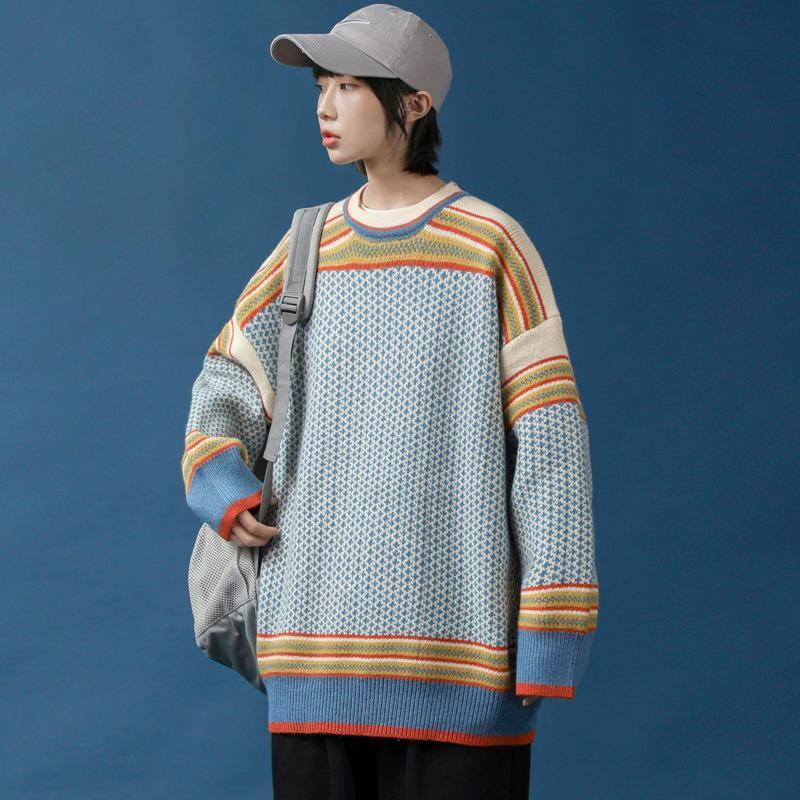 2020 осень зима новый список пара свитер мужской прилив бренда американской тенденции вскользь пуловеры зеленые одежды Бесплатная доставка
