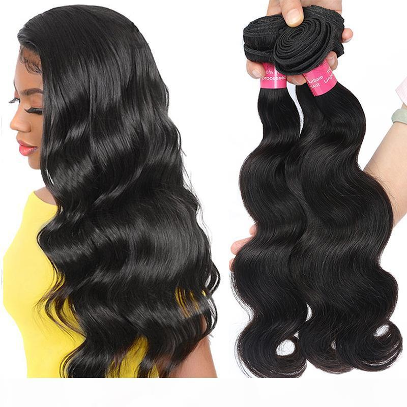 4 pcs brasileiro onda corporal pacotes brasileiro extensão de cabelo humano mink brasileiro cabelo virgem corpo onda gagaqueen onda corporal cabelo virgem