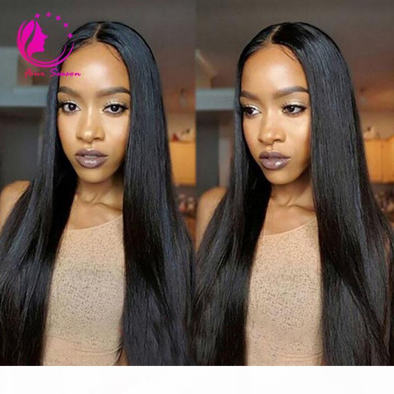 Кружева фронт человеческих волос парики перуанские девственные волосы передние кружевные парики прямые полные кружевные волосы волосы для черных женщин