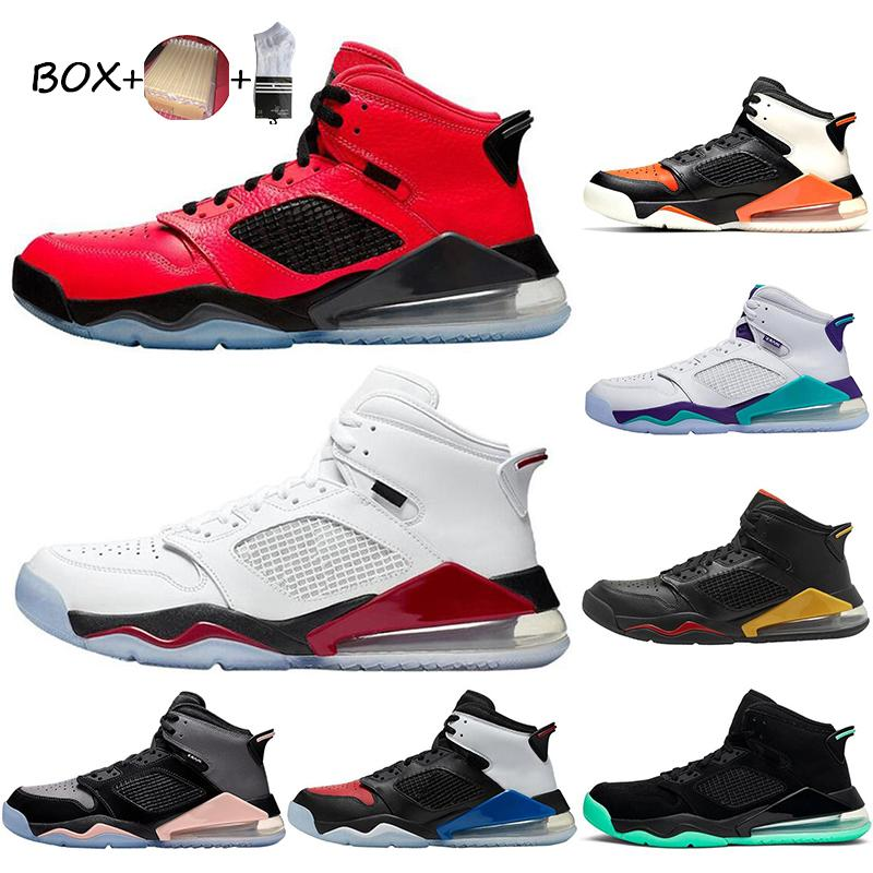 2021 Jumpman Mars Patent Couro Basquetebol Sapatos Homem Paris Azul Black Brilho Branco Fogo Vermelho Colorway Quebrado Sapatilhas Tênis Tamanho 7-13