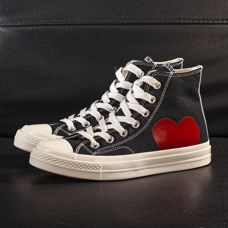 Klasik Büyük Gözler Oyun Çok Kalpli Merhaba Tuval Ayakkabıları Moda Ortak Adı Rahat Kaykay Eğitmenler Sneakers Boyutu 35-44