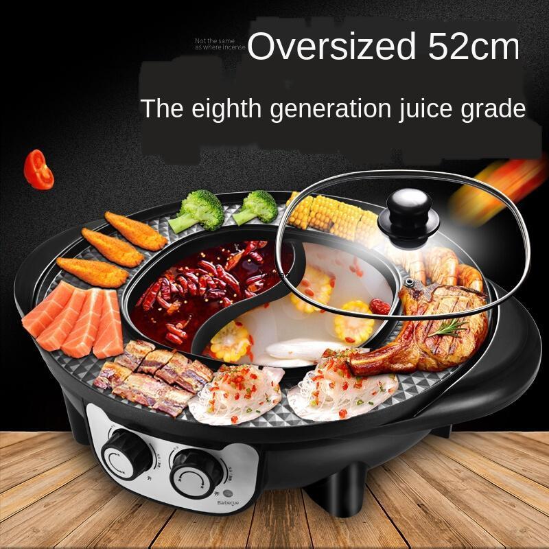 2000 واط وعاء الساخنة الكهربائية المنزلية المحمصة الساخنة وعاء الدفء مجموعة الشواء آلة متعددة الوظائف هوتوبوت طباخ