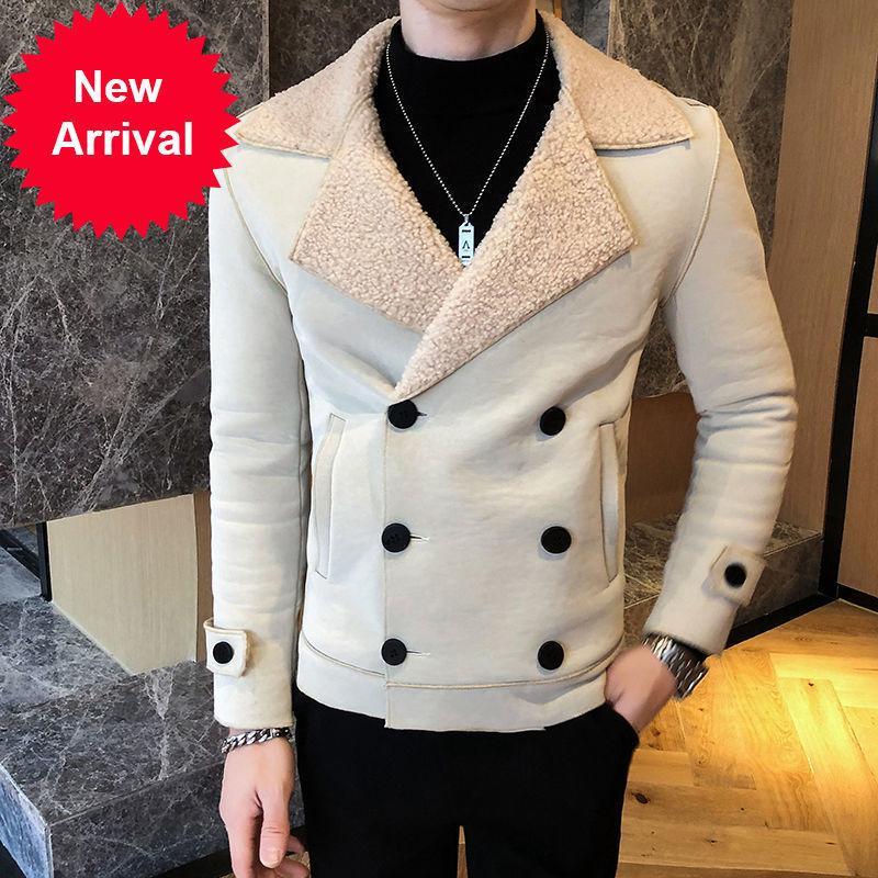 2021 осень зимний трендовый модный мех Jaqueta Masculina Couro красная желтая куртка из искусственных кожи
