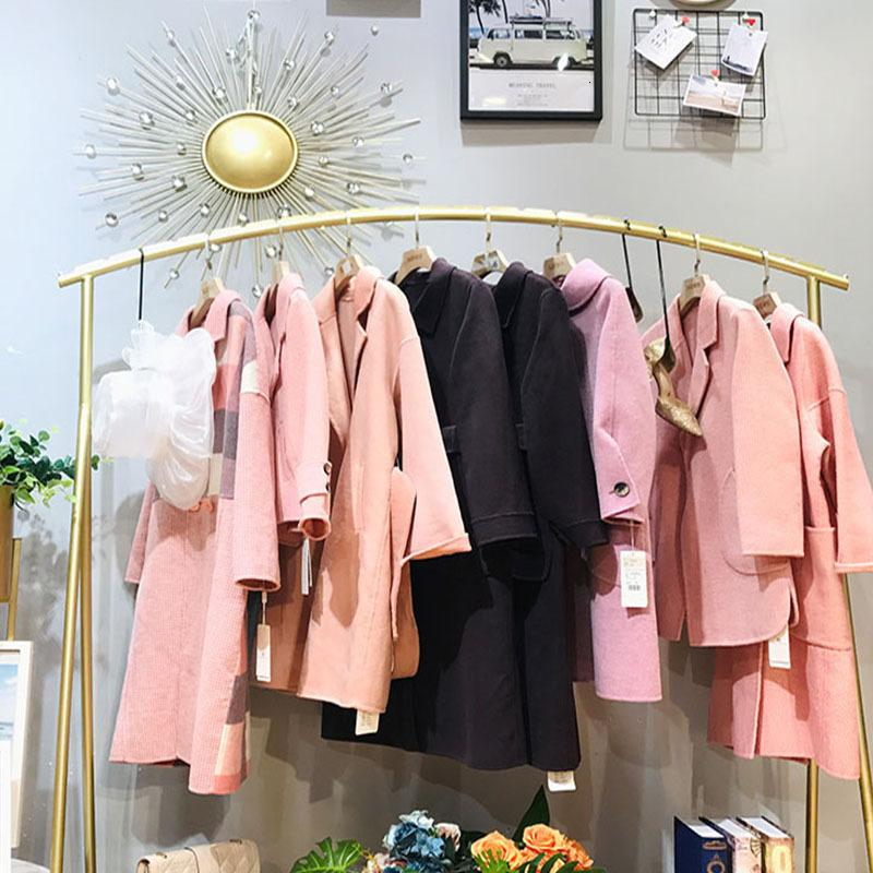 High grade albaka double face cashmere coat in shopping malls