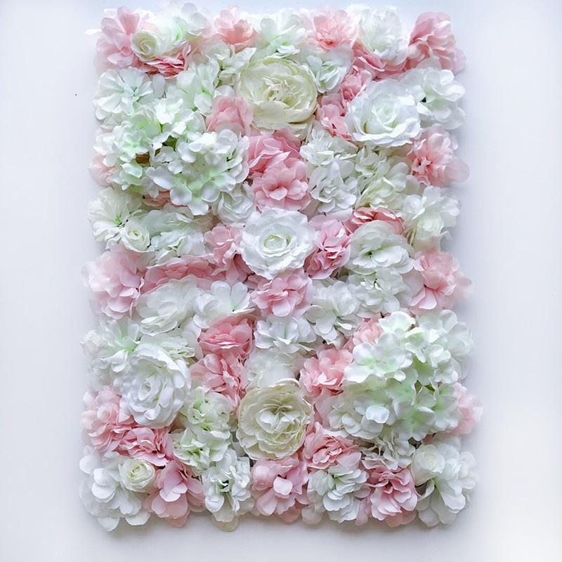 Decorative Flowers & Wreaths Artificial Rose Flower Wall Hanging Head Mat Silk Floral For Wedding Backdrop Arch Pavilion Corners Decor
