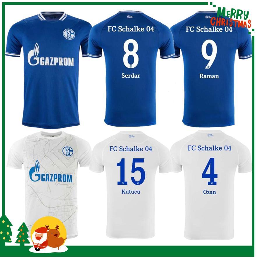 2020 2021 Schalke Home Blue Soccer Jersey 20/21 Schalke 04 Away Футбольные рубашки