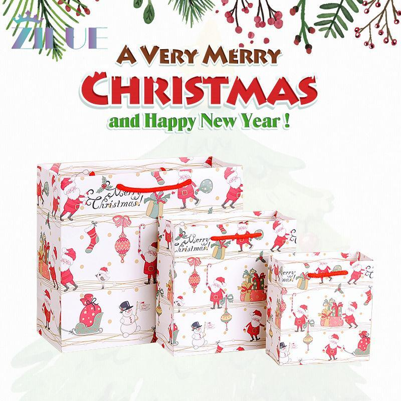 Zilue Çanta Kağıt Parti Karton Doğum Günü Noel Noel Çantası Malzemeleri Düğün Çantası Festivali Hediye Doğum Günü Hediyesi için 5 adet Ptwub