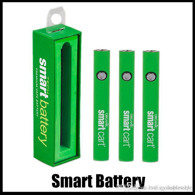 Intelligente Batterie 510 Gewindebatterie Vape-Stifte Vorheizbatterie Ego T Variable Spannung für Smartcart dicke Öldampferer-Stift-Box-Verpackung