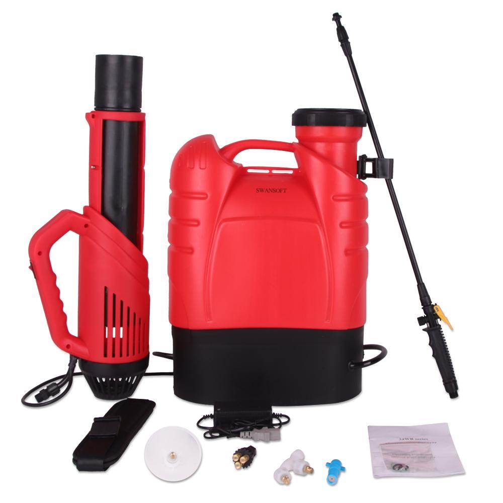 16L Schnurloser Rucksack in Nebelspritzer Elektrostatischer Fogger Tragbare Maschine Fogger Griff Sprayer für Ulv Stock Desinfektion WSKGT